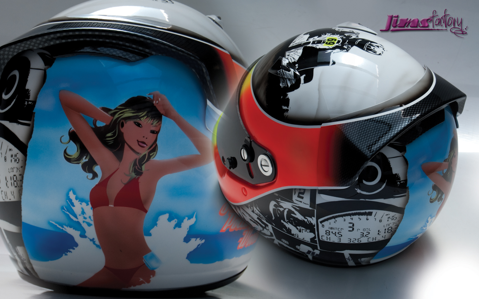 Jims Factory Custom Helmet Wallpaper